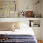 1-polita pentru mici decoratiuni la capul patului din dormitor