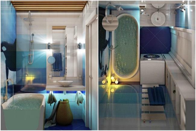 1-proiect amenajare baie foarte mica cu cada