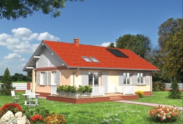 1-proiect casa 80 mp doar parter cu 2 dormitoare si 2 terase