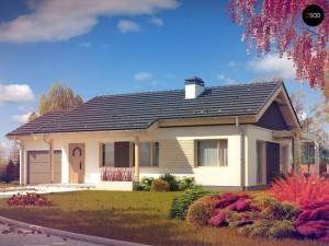Proiecte de case sub 100 mp fara etaj si cu garaj