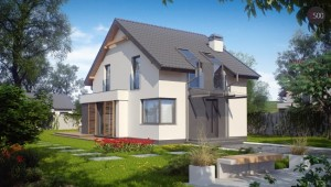 1-proiect casa mica parter si mansarda 102 mp