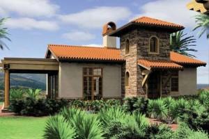 1-proiect casa stil Mediteranean 90 mp cu 1 dormitor