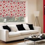 1-rulou textil imprimeu floral rosu decor fereastra living modern