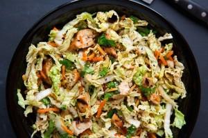 1-salata verde cu pui susan si ghimbir