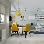 1-scaune galbene decor scandinav accent cromatic de primavara