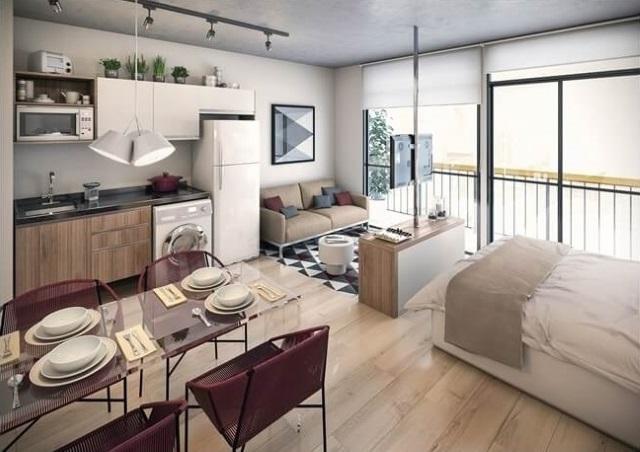 1-separare vizuala dormitor de living cu ajutorul unei comode tv