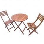 1-set balcon masa pliabila cu doua scaune pliante Dedeman