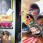 1-solutii de organizare a rechizitelor din camera copilului