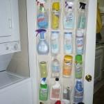 1-suport din plastic pentru organizare si depozitare detergenti in bucatarie