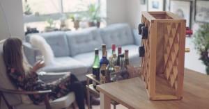 Suport magic pentru sticlele cu vin