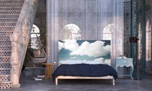 1-tablie decorativa pentru pat nori pe cer Noyo Home