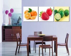 1-tablouri cu fructe decor perete deasupra locului de luat masa