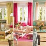 1-textile in culori diferite in amenajarea livingului