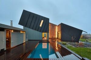1-vedere frontala casa ecologica independenta energetic Snohetta ZEB Norvegia