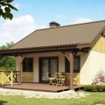 1-vedere spate casa mica proiect de 44 mp cu terasa acoperita