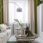 Culoarea verde crud in amenajarea unui apartament modern – 2 camere