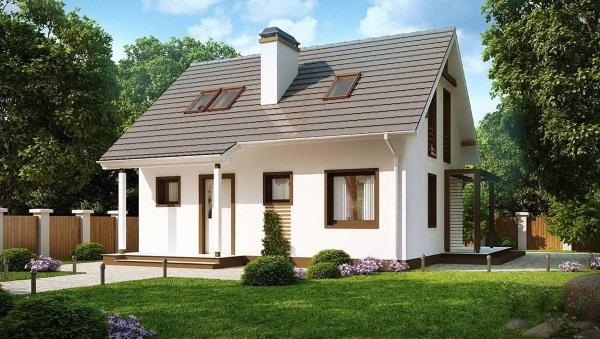 10-Intrare casa mica parter si mansardasub 100 mp cu 3 sau 4 dormtioare