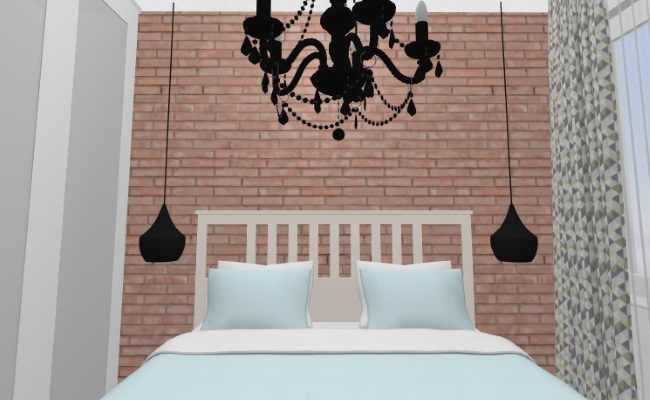 10-Perete cu caramida de sticla amenajare dormitor scandinav in garsoniera