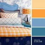 10-accente portocalii si albastre decor dormitor