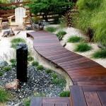 10-alee podet de gradina din scandura de lemn baituita