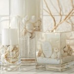 10-aranjamente decorative devara cu scoici nisip si lumanari