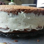 10-asamblare tort cu blat de ciocolata s crema de mascarpone frisca si lapte condensat