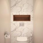 10-baie de serviciu amenajata modern lux finisaje marmura naturala