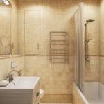 10-baie frumoasa cu gresie faianta si mozaic galben antichizat