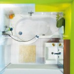 10-baie minimalista cu cada finisata in alb si verde fistic