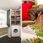 10-baie moderna cu masina de spalat rufe si detaliu decorativ terasa casa de vacanta Olanda