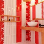 10-baie moderna decorata in faianta alba si rosie