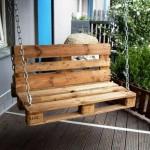 10-balansoar de terasa confectionat din paleti de lemn