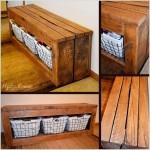 10-banca cu lada de depozitare mobila din paleti de lemn