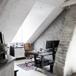 10-birou amenajat in mansarda casei