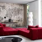 10-canapea coltar de culoare rosie decor living industrial