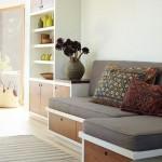 10-canapea fixa fara brate si cu dulapuri sub sezut decor living mic
