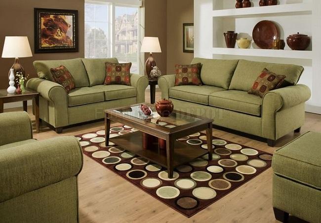 10-canapele olive decor living amenajat in stil clasic