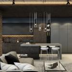 10-combinatii de gri cu lemn amenajare bucatarie stil industrial