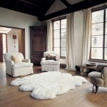 10-covor din blana decor living rustic