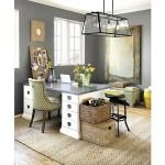 10-covor natural din iuta decor pardoseala birou elegant