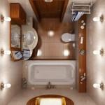 10-design baie mica de apartament amenajata in nuante de bej si maro