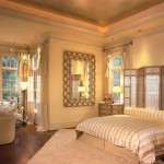 10-dormitor amenajat in stil oriental cu paravan din lemn in locul tabliei de la capul patului