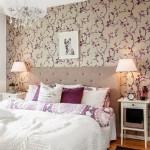 10-dormitor elegant decorat in alb gri si violet