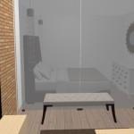 10-dormitor mic amenajat in spatele unui paravan de sticla