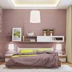 10-dormitor modern cu perete zugravit in maro ciocolata cu lapte