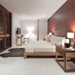 10-dormitor modern de lux perete placat cu panouri decorative din lemn