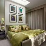 10-dormitor modern decorat in nuante de bej si verde olive