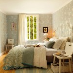 10-dormitor rustic scandinav tapet decorativ rustic si mobila alba ikea