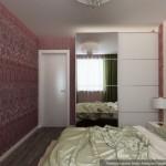 10-doua modele de tapet cu imprimeu diferit in amenajarea unui dormitor modern de 12 mp
