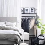 10-draperie paravan mascare dressing amenajat in spatiul din spaele tabliei de la capul patului